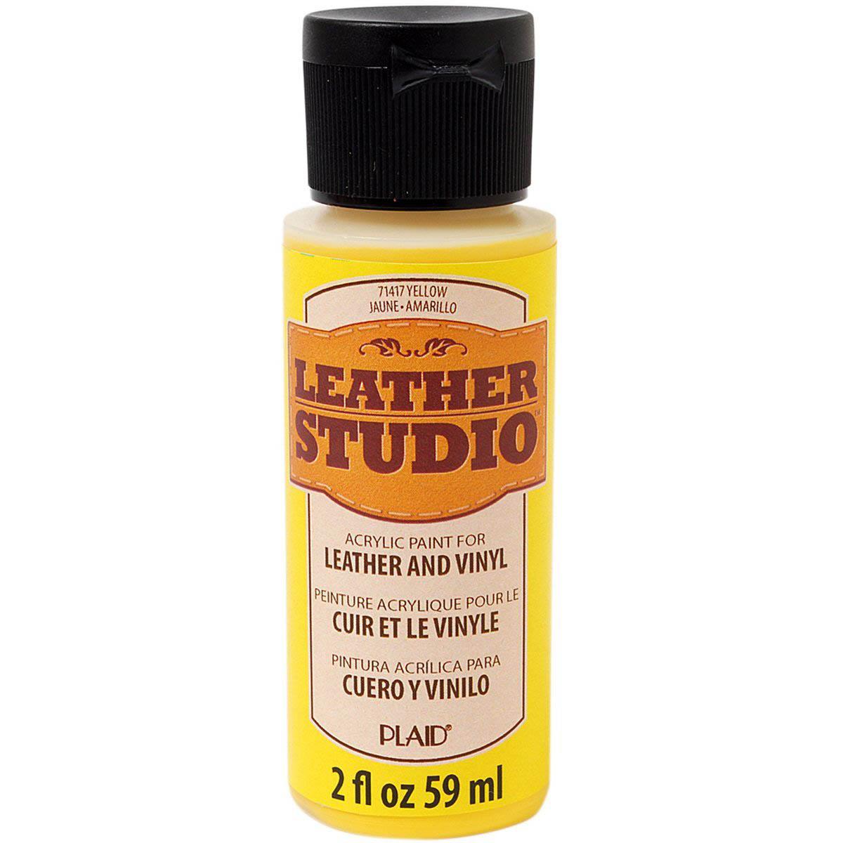 Leather Studio™ Leather & Vinyl Paint Colors - Yellow, 2 oz. - 71417