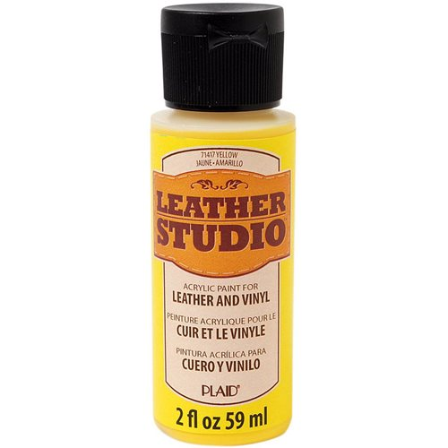 Leather Studio™ Leather & Vinyl Paint Colors - Yellow, 2 oz.