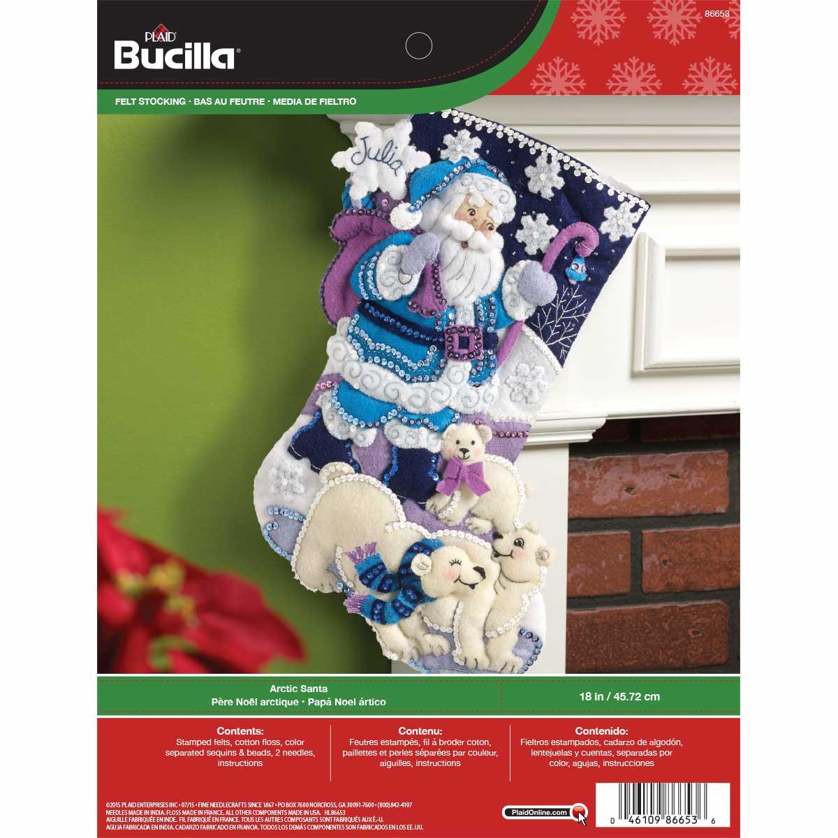 Bucilla ® Seasonal - Felt - Stocking Kits - Arctic Santa - 86653