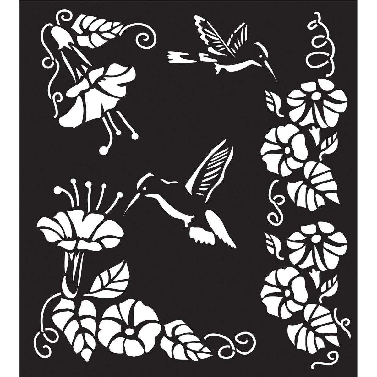 FolkArt ® Painting Stencils - Large - Hummingbird