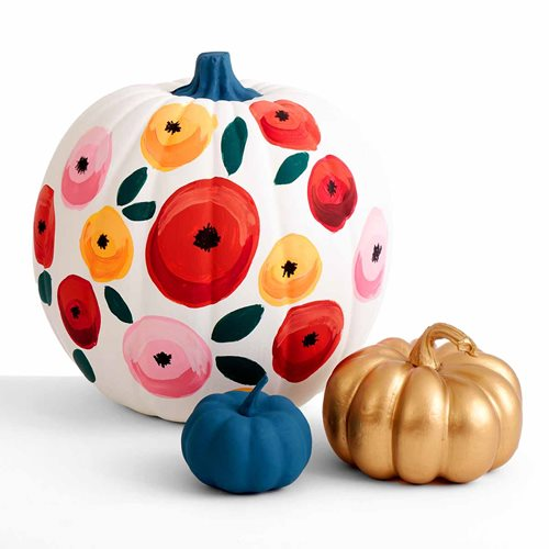 Let's Paint Live Floral Pumpkin