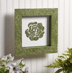Single Rose Moss Wall Art