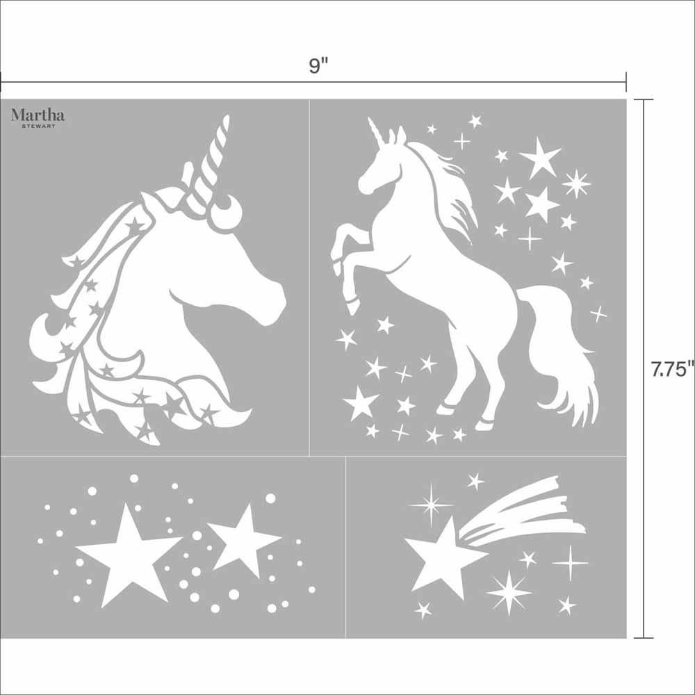Martha Stewart ® Adhesive Stencil - Unicorn - 5691