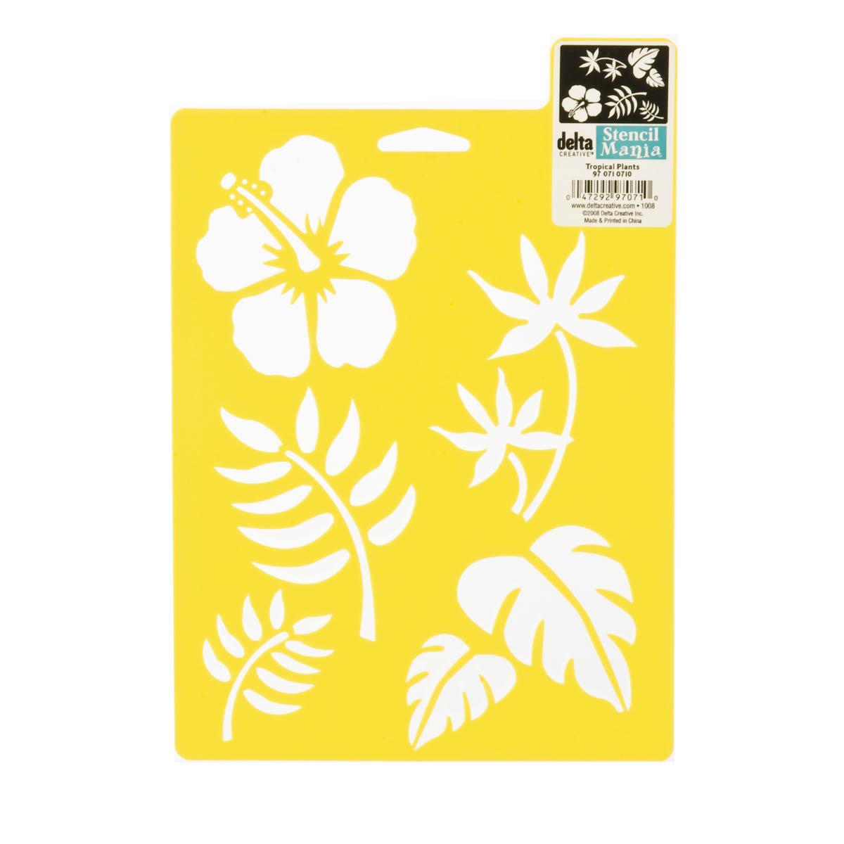 Delta Stencil Mania™ - Tropical Plants
