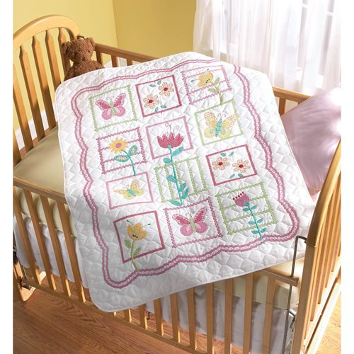 Bucilla ® Baby - Stamped Cross Stitch - Crib Ensembles - Sophie - Crib Cover