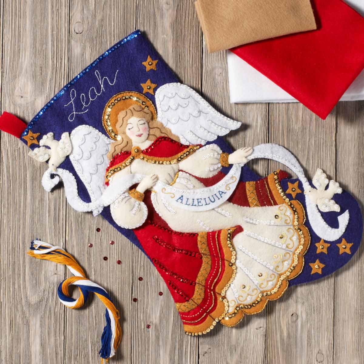 Bucilla ® Seasonal - Felt - Stocking Kits - Christmas Angel