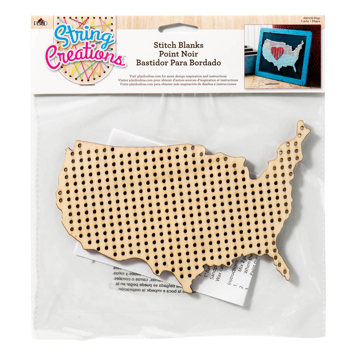 Bucilla ® String Creations™ Stitch Blanks - Map, Full Grid