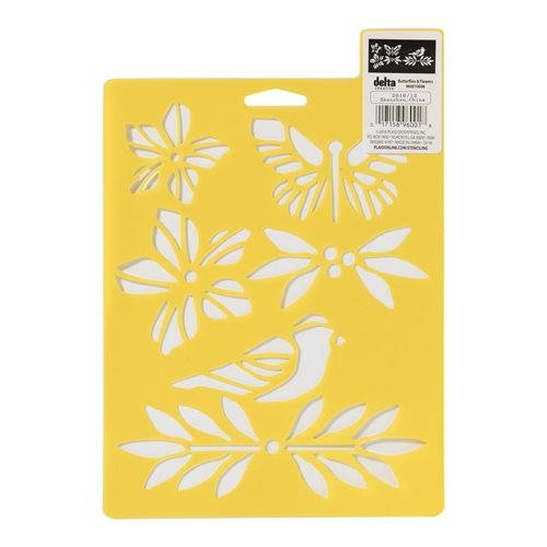 Delta Creative™ Stencil - Butterflies and Flowers