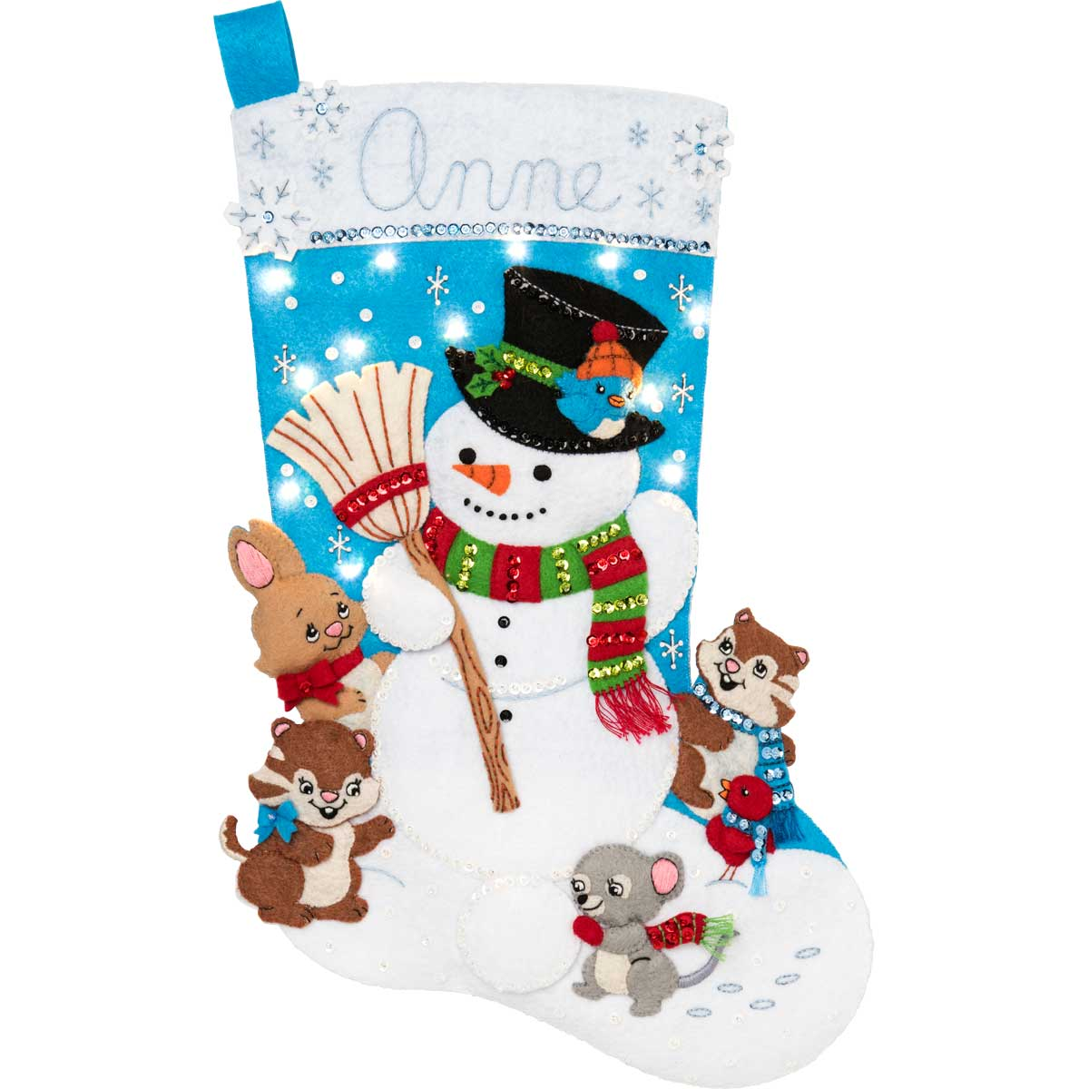 Bucilla ® Seasonal - Felt - Stocking Kits - Hallmark - Snow Much Fun with Lights