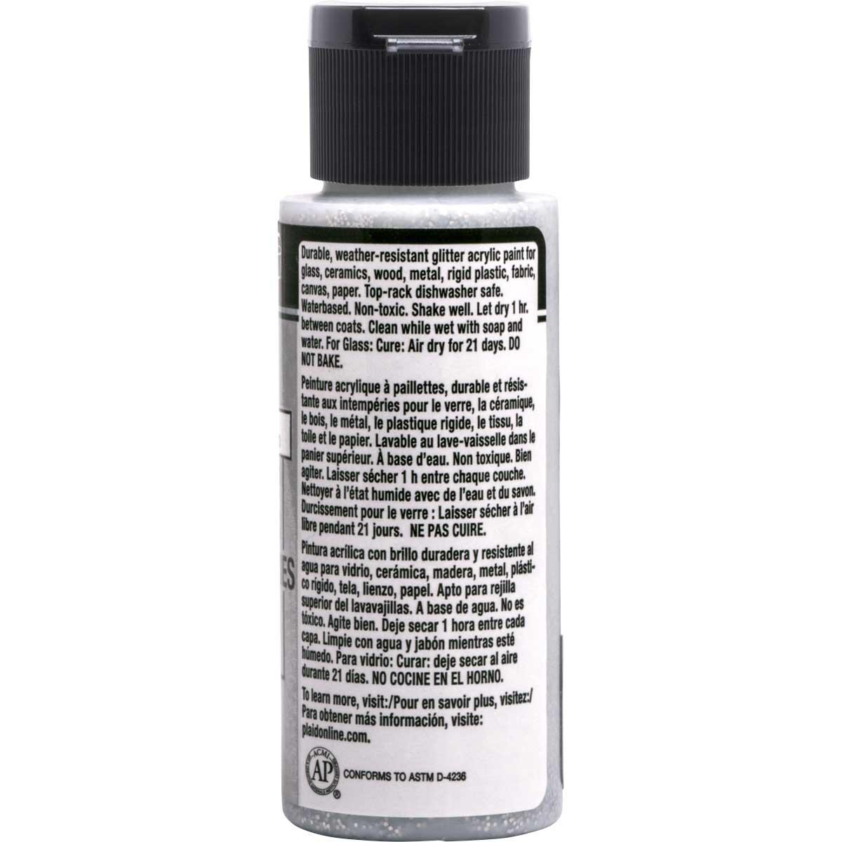 FolkArt ® Multi-Surface Glitter Acrylic Paints - Chunky Silver, 2 oz. - 6318