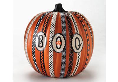 Mod Podge ® Paper Stripe Pumpkin