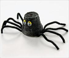 Halloween Clay Pot Spider