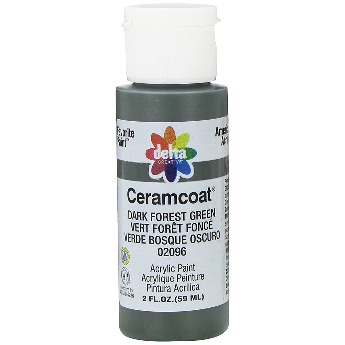 Delta Ceramcoat ® Acrylic Paint - Dark Forest Green, 2 oz.