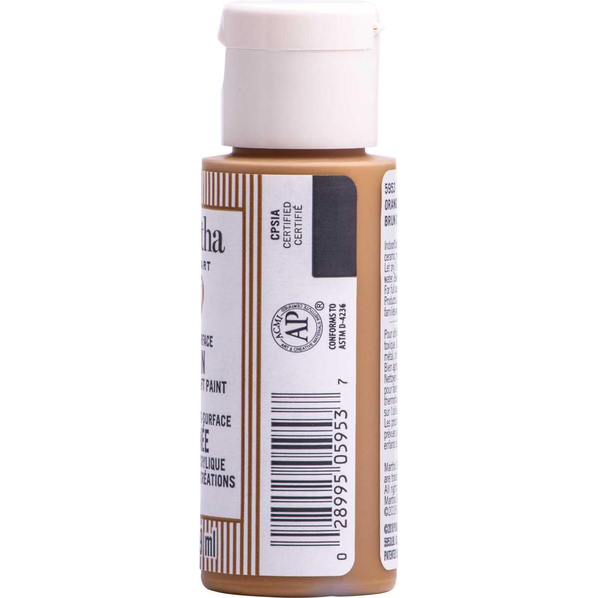 Martha Stewart ® Multi-Surface Satin Acrylic Craft Paint CPSIA - Orangutan Brown, 2 oz. - 5953