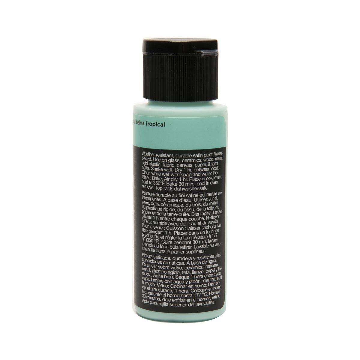 Delta Ceramcoat ® Select Multi-Surface Acrylic Paint - Satin - Tropic Bay Blue, 2 oz.