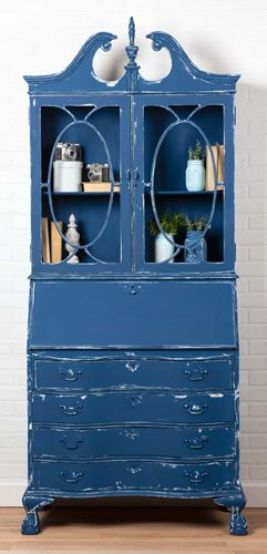 French Country Two Door Hutch with Waverly Inspirations