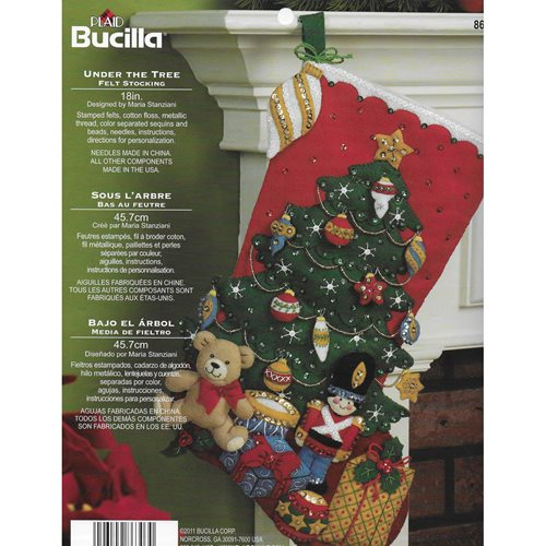 Bucilla ® Seasonal - Felt - Stocking Kits - Under the Tree - 86303
