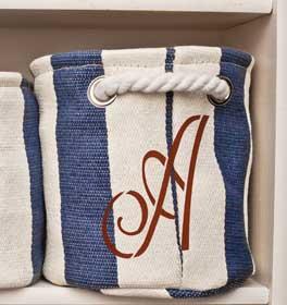 Script Monogram Nautical Tote Bag