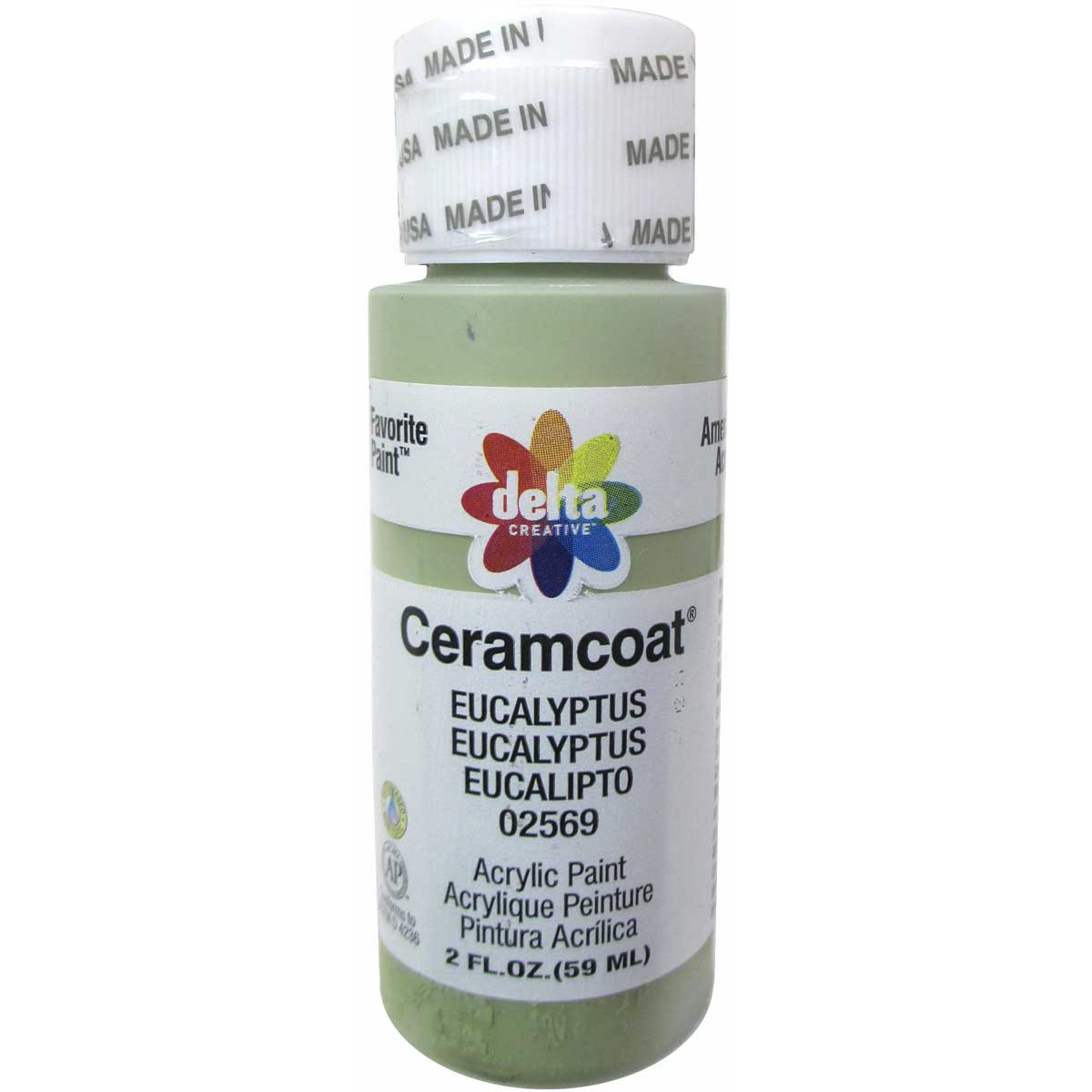 Delta Ceramcoat ® Acrylic Paint - Eucalyptus, 2 oz.
