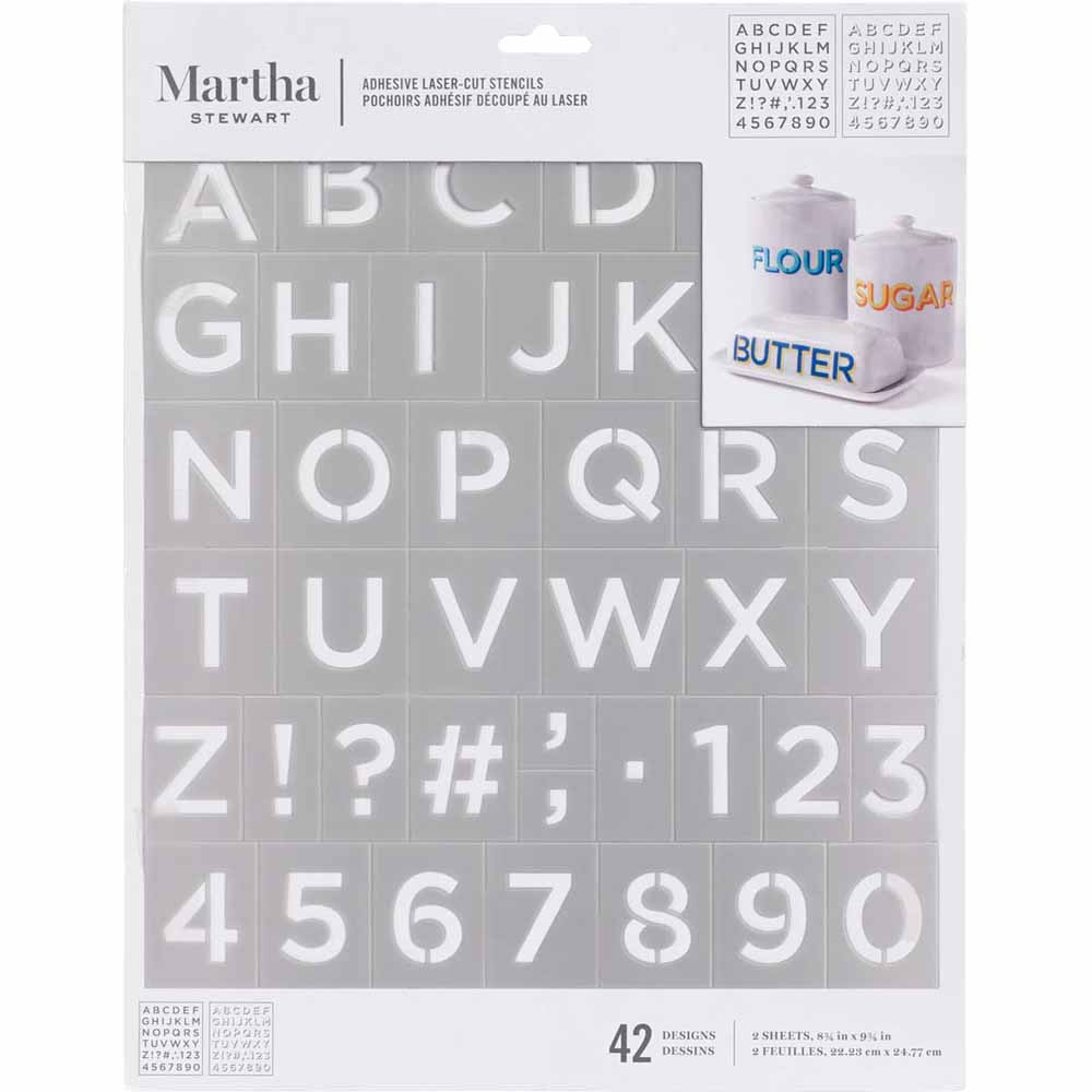 Martha Stewart® Adhesive Stencil - Two Layer Shadow