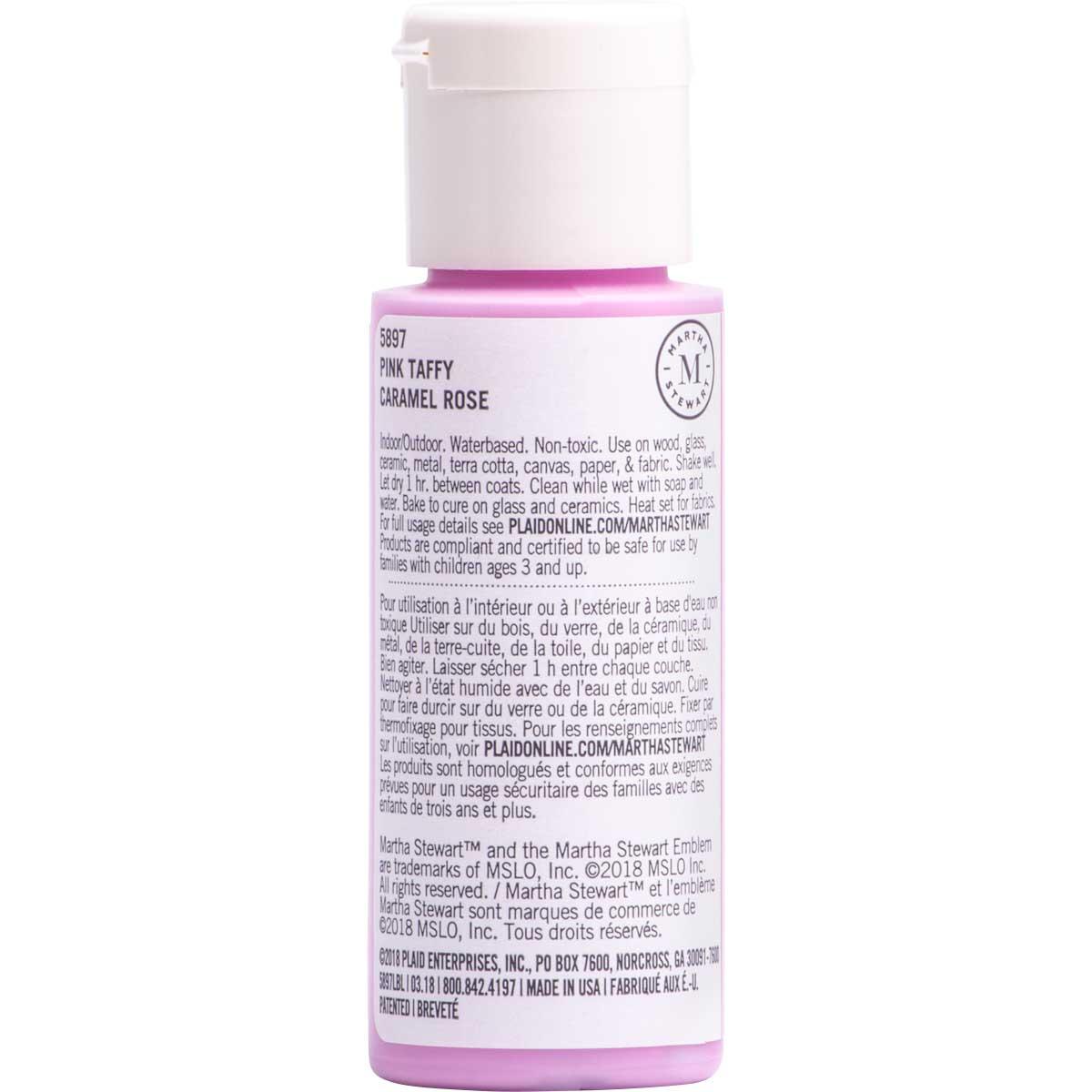 Martha Stewart ® Multi-Surface Satin Acrylic Craft Paint CPSIA - Pink Taffy, 2 oz. - 5897