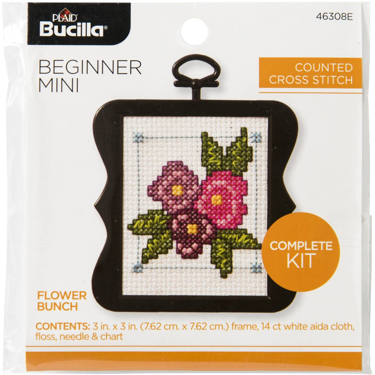Bucilla ® Counted Cross Stitch - Beginner Stitchery - Mini - Flower Bunch