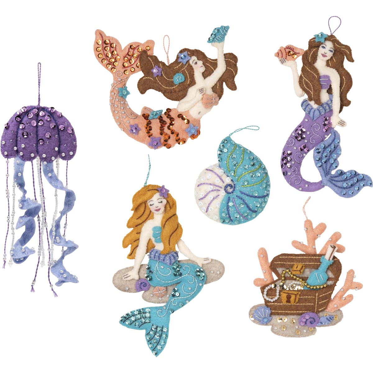 Bucilla ® Seasonal - Felt - Ornament Kits - Sea Princess - 89269E