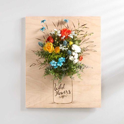 Rustic Bouquet 3D Floral Wall Art