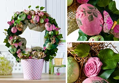 Easter Egg Topiary Centerpiece