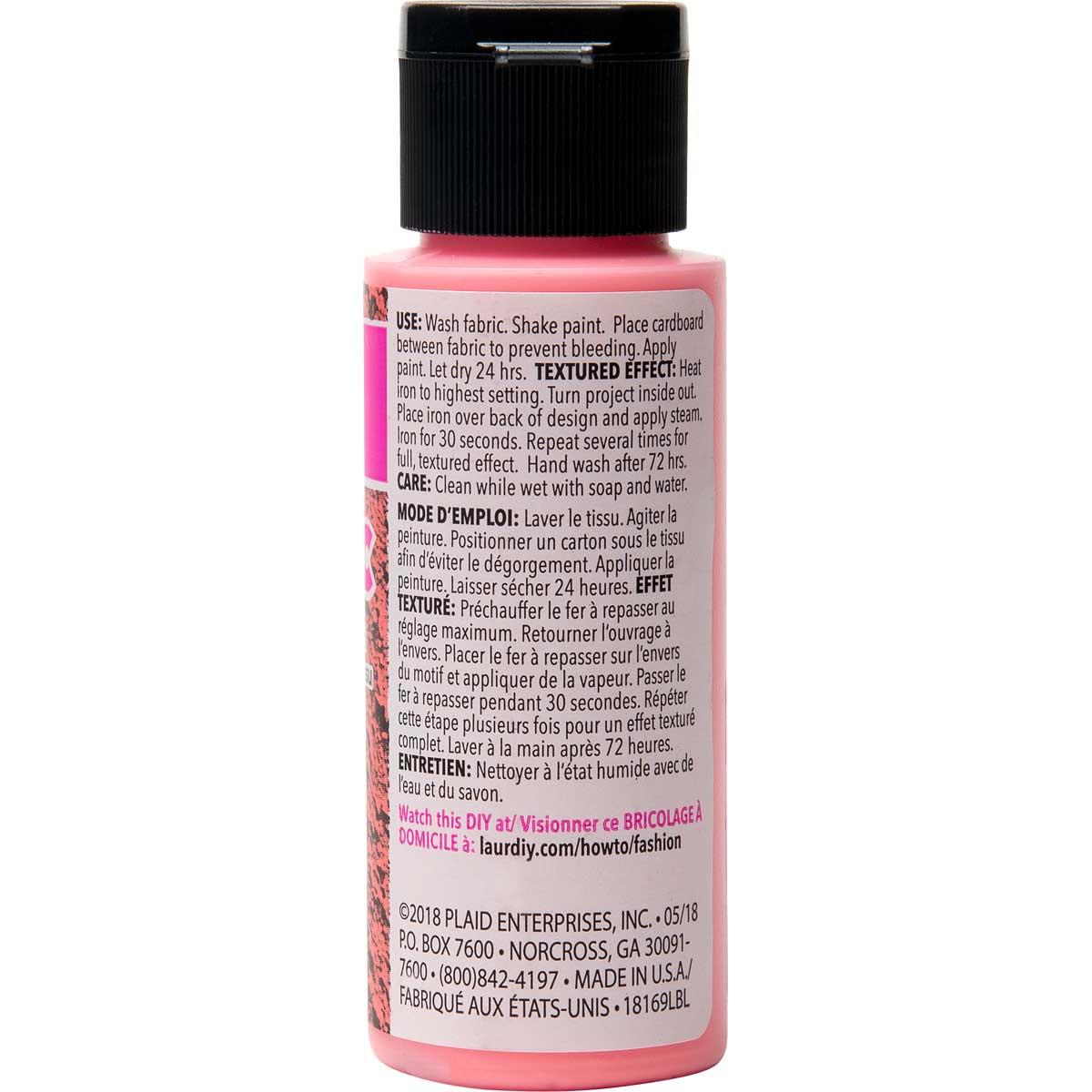 LaurDIY ® Texturific™ Fabric Paint - Girl Boss, 2 oz.