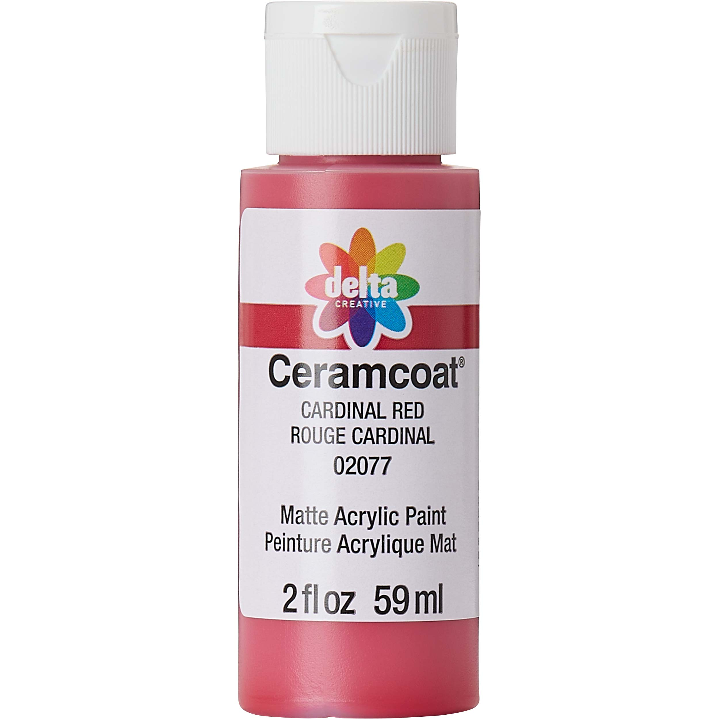 Delta Ceramcoat ® Acrylic Paint - Cardinal Red, 2 oz.