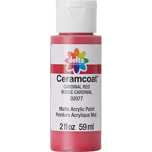 Delta Ceramcoat ® Acrylic Paint - Cardinal Red, 2 oz.