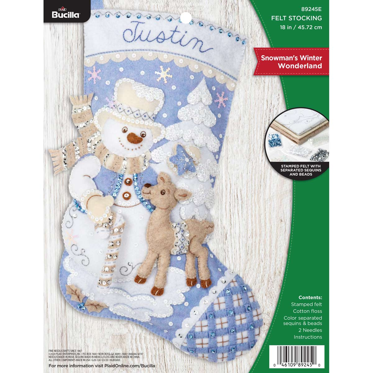 Bucilla ® Seasonal - Felt - Stocking Kits - Snowman's Winter Wonderland - 89245E