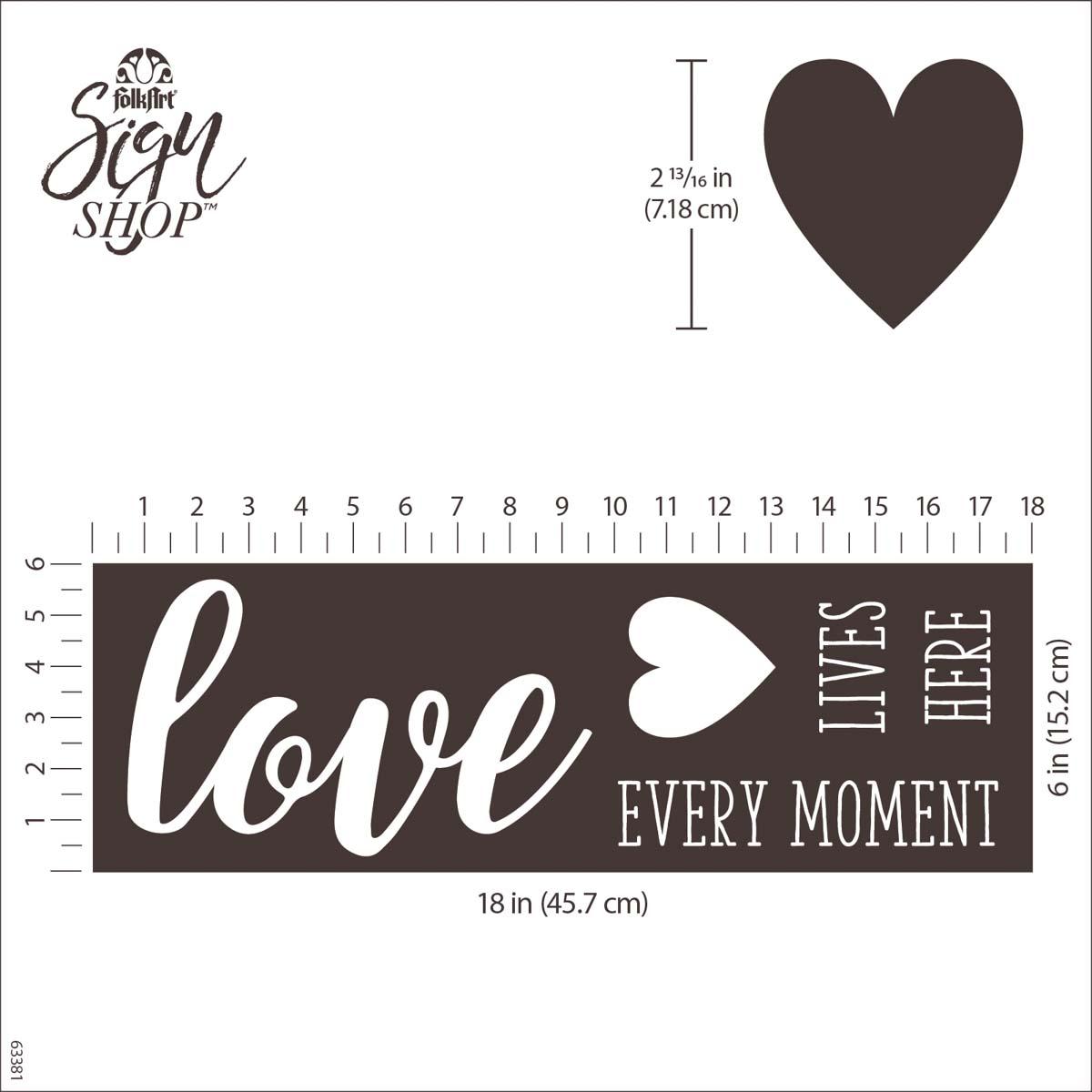 FolkArt ® Sign Shop™ Mesh Stencil - Love Lives Here - 63381