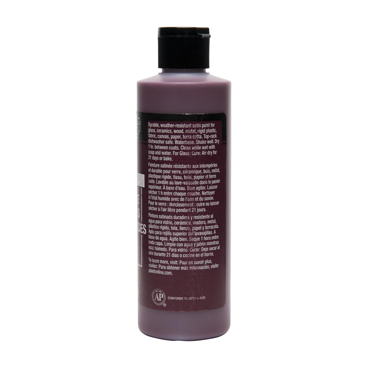 FolkArt ® Multi-Surface Satin Acrylic Paints - Berry Wine, 8 oz. - 4648