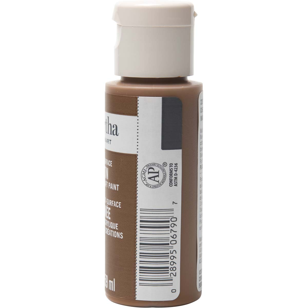 Martha Stewart ® Multi-Surface Satin Acrylic Craft Paint - Chestnut Brown, 2 oz. - 32070CA