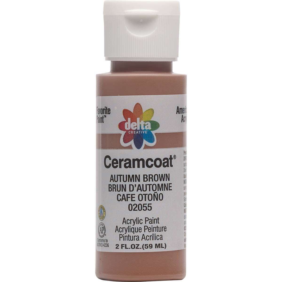 Delta Ceramcoat ® Acrylic Paint - Autumn Brown, 2 oz. - 020550202W