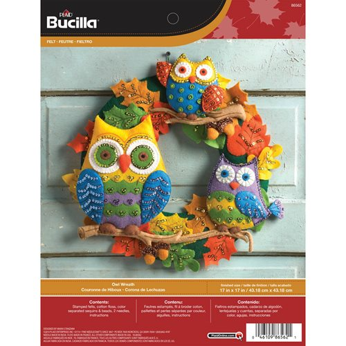 Bucilla ® Seasonal - Felt - Home Decor - Owl Wreath - 86562