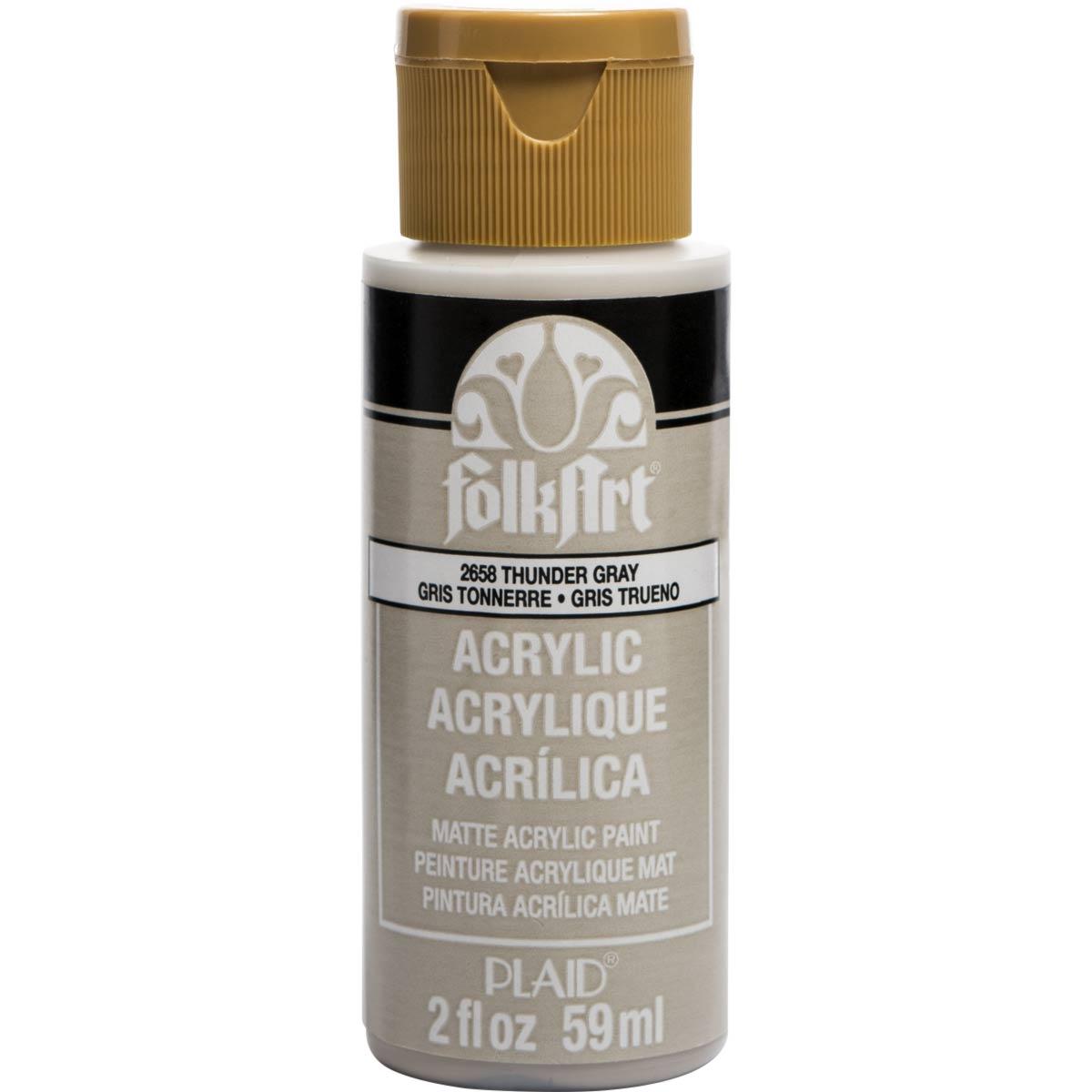 FolkArt ® Acrylic Colors - Thunder Gray, 2 oz.