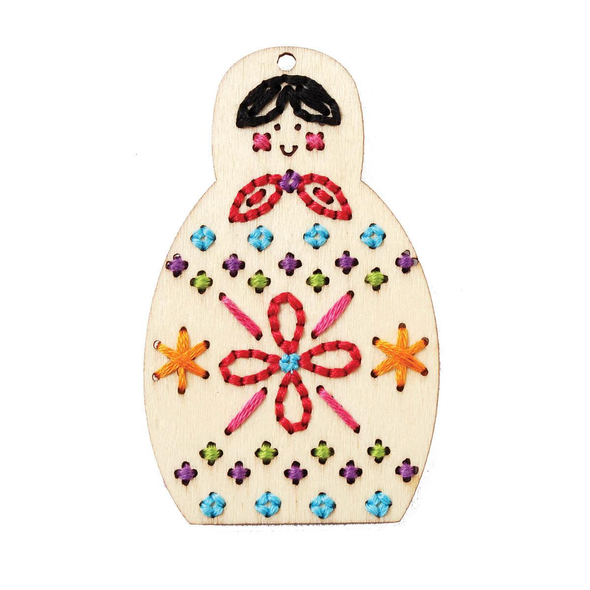 Bucilla ® Handmade Charlotte™ Wood Stitchables - Babushka