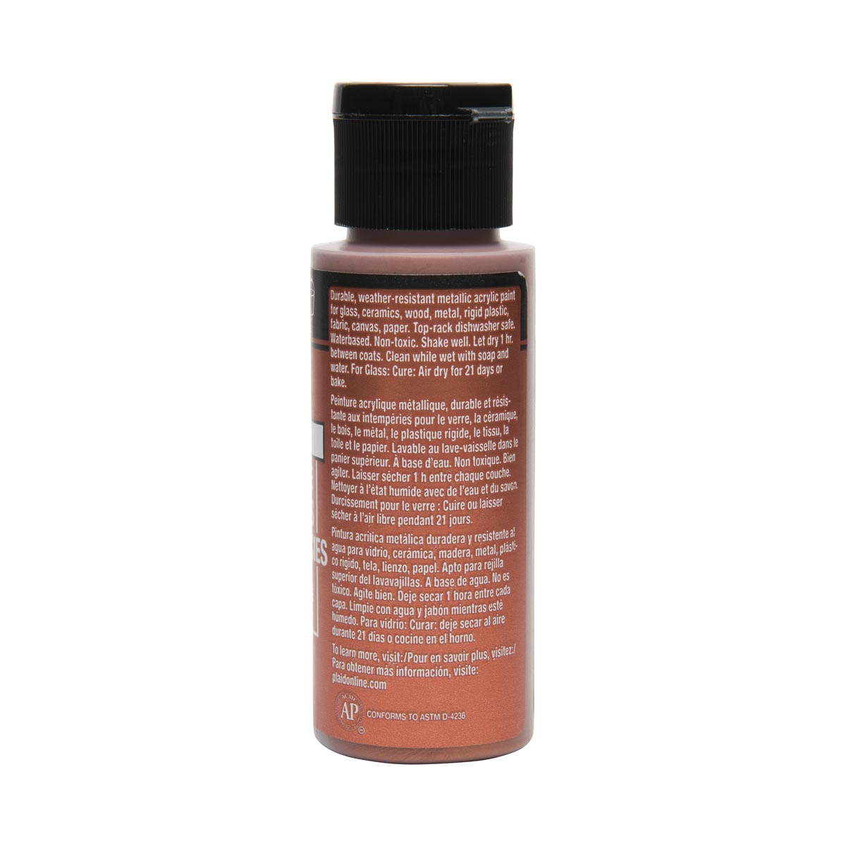 FolkArt ® Multi-Surface Metallic Acrylic Paints - Copper, 2 oz. - 6305