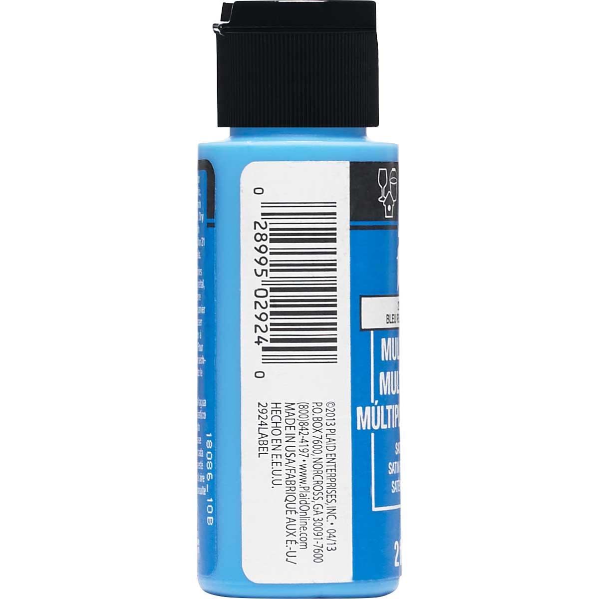 FolkArt ® Multi-Surface Satin Acrylic Paints - Look at Me Blue, 2 oz.