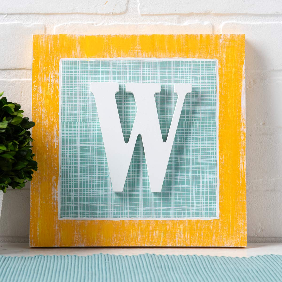Mod Podge Monogram Canvas