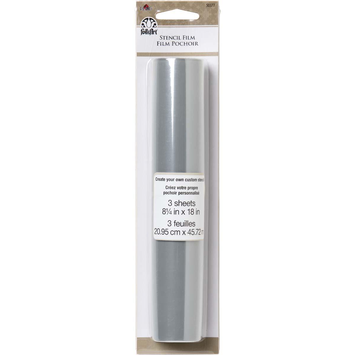FolkArt ® Painting Tools - Stencil Film Blank, 8-1/4