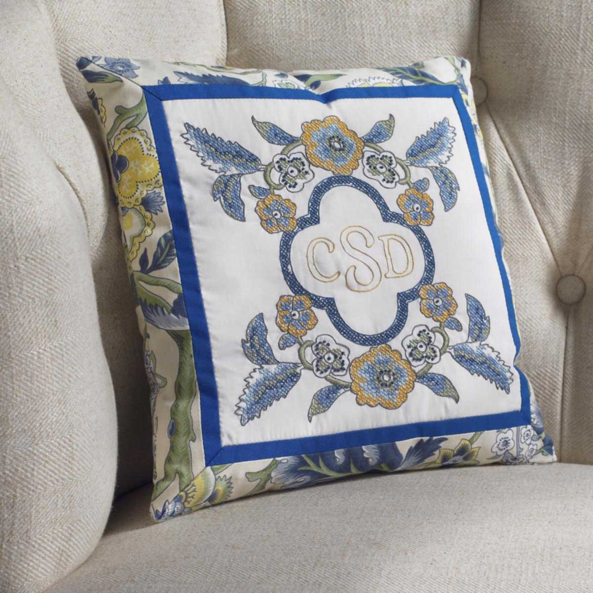 Bucilla Waverly Imperial Dress Collection Stamped Pillow