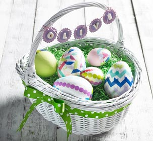 Personalized Easter Basket Banner