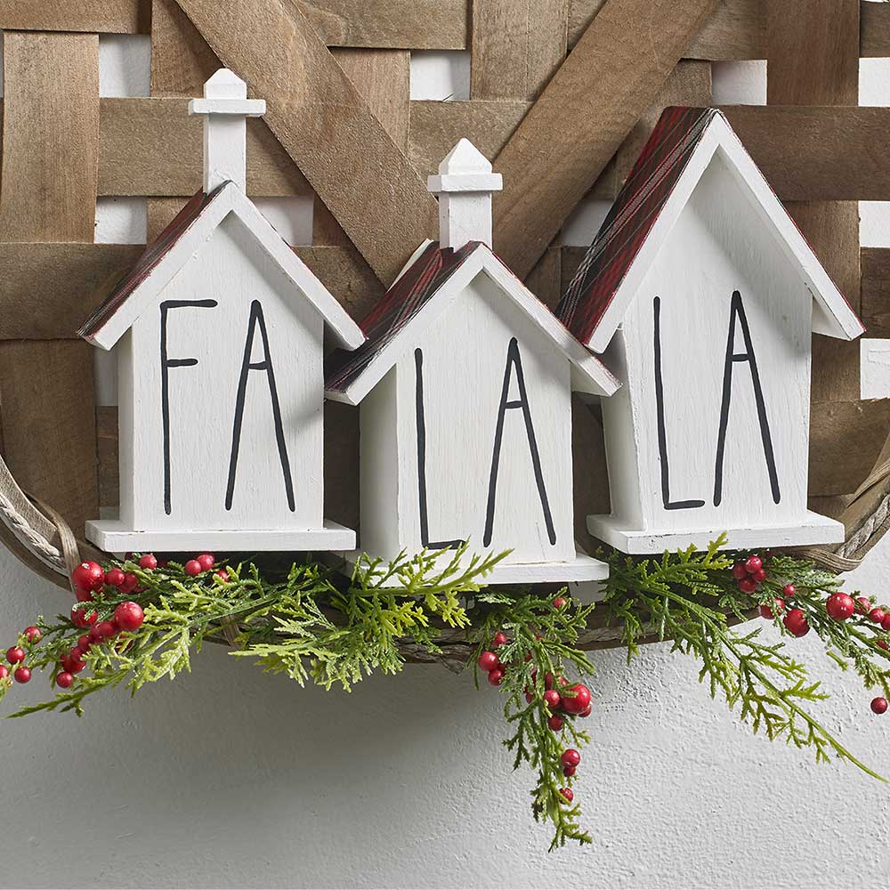 Farmhouse Fa La La Holiday Decor DIY