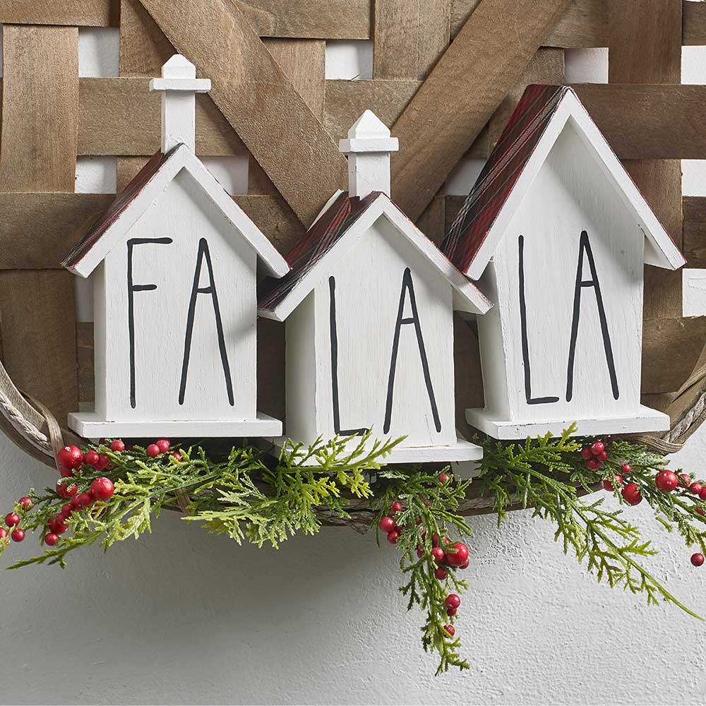 Farmhouse Fa La La Holiday Decor DIY