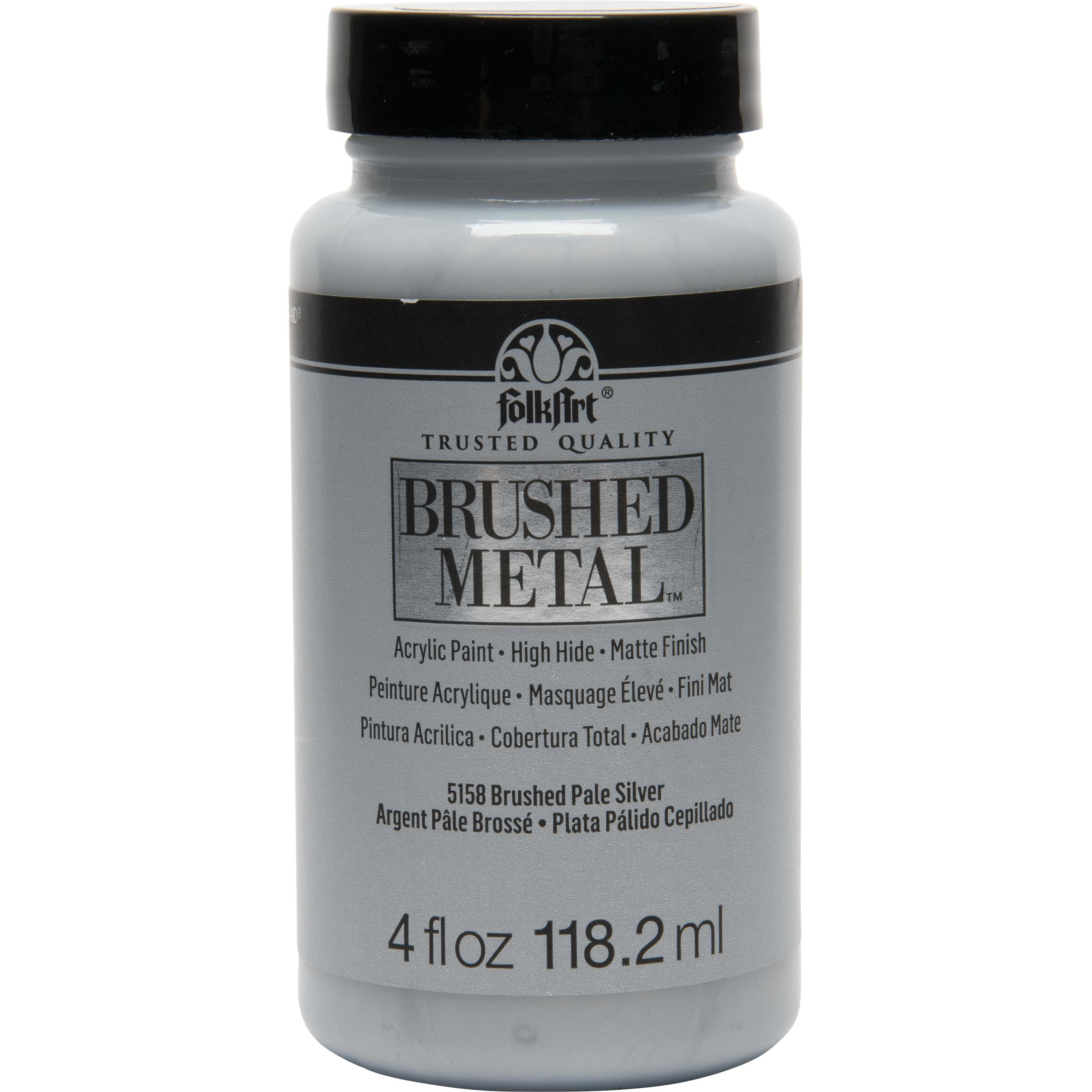 FolkArt ® Brushed Metal™ Acrylic Paint - Pale Silver, 4 oz. - 5158