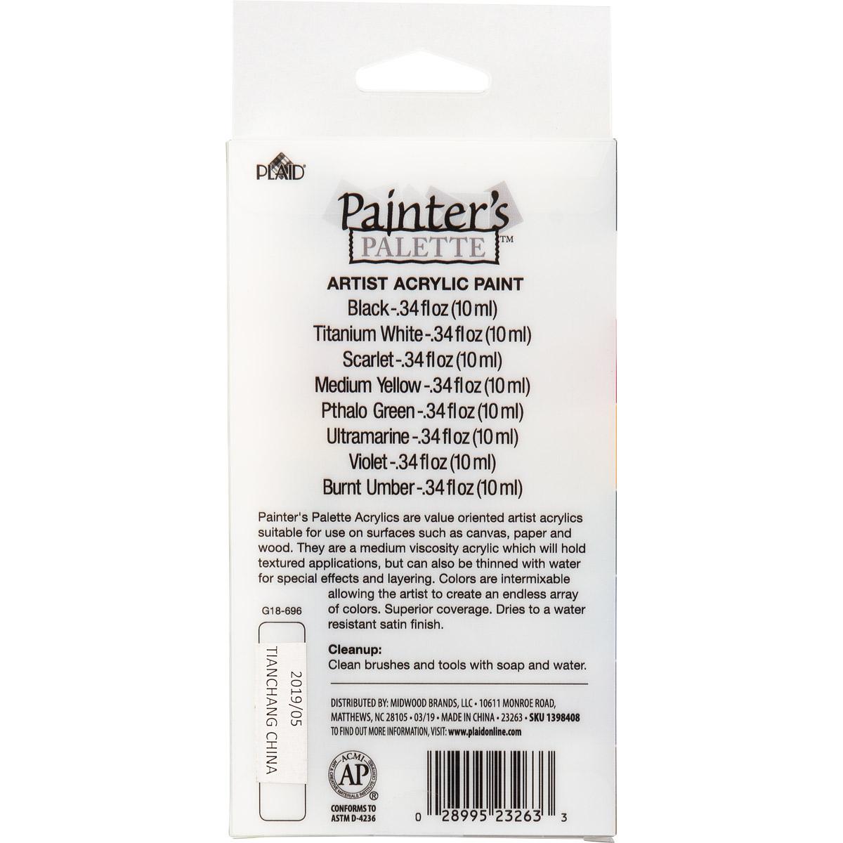 Plaid ® Painter's Palette™ Acrylic Tube Paint Set, 8 pcs.